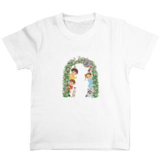 バラのアーチ T-shirts