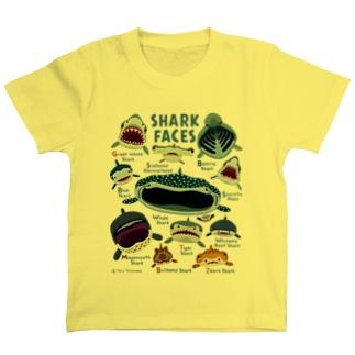 サメカオlightcolorキッズ T-shirts