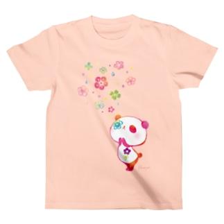 お祈り 花パンダ T-shirts