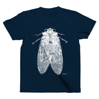 Biological Laceworksのセミ 両面(白) Cicada-both sides (White print)  T-shirts