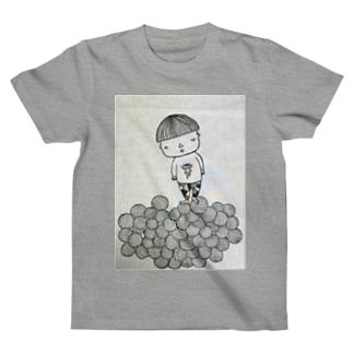 刈り上げさん玉乗りあそび T-shirts