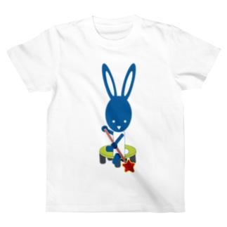 アビと工房の星をみつけたウサギ T-Shirt