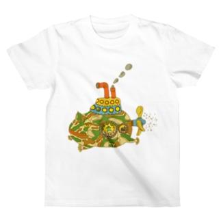 さちこの生き物雑貨のカエルのモッチ T-shirts