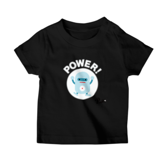 """AEDIの""""POWER!"""" Robotee @ PlayU Tシャツ"""