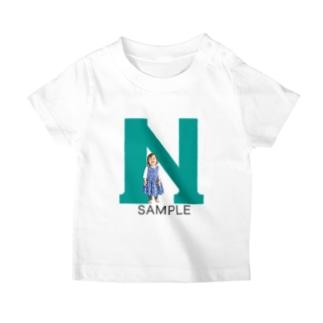 アルファベット photoグッズ グリーン T-shirts