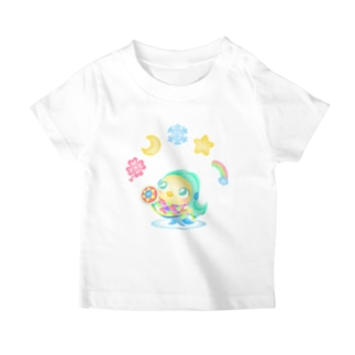 アマビエ×花月雪星宙 T-shirts
