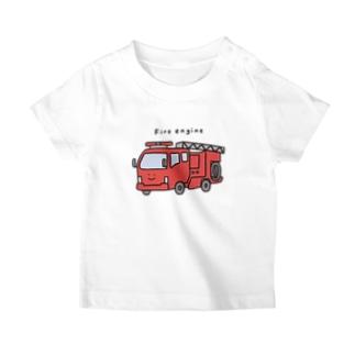 消防車さん(こども) T-Shirt