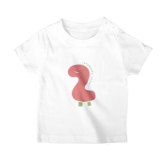 ぼんやり商会 SUZURI店のおめでとう2さい(こども・ピンク) T-Shirt