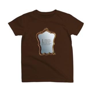 鏡よ、鏡 (ダークブラウン) T-shirts