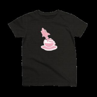 イラストレーター さかたようこのティーカップとSAME/サメ T-shirts