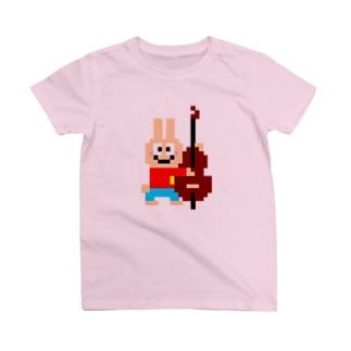 ベース大好きうさぎさん T-shirts