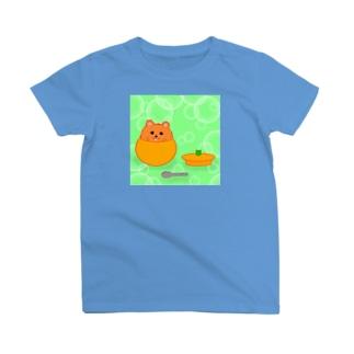 極限まで丸いポメ・みかん T-shirts