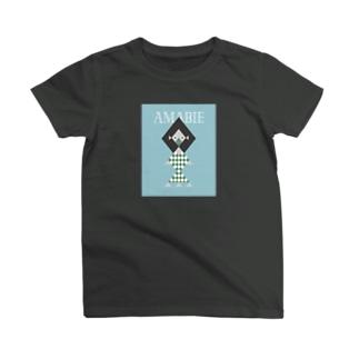 幾何学アマビエさま(アップルグリーン・スミ) T-shirts