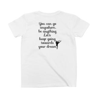 バレエシルエット (白鳥の湖)バックプリント T-shirts