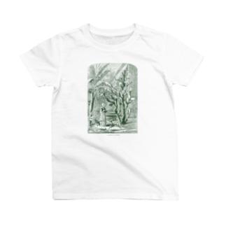 サボテンの庭<アンティーク・イラスト> T-shirts