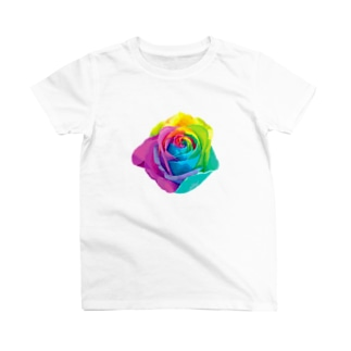 Rainbow rose(Single) T-shirts