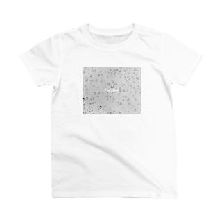raindropsモノクロ T-shirts