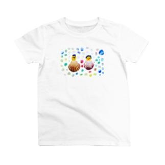 貝殻夫婦水玉 T-shirts