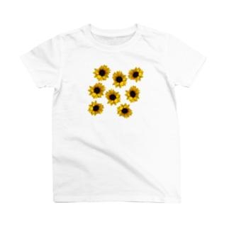 ヒマワリがいっぱい T-shirts