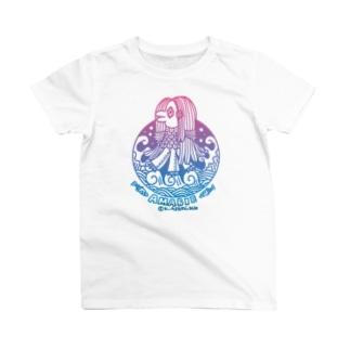 アサミカヨコの波乗りアマビエ T-shirts