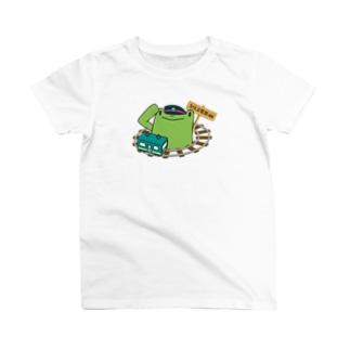 車掌と路線図 T-shirts
