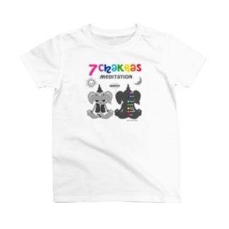 ガネゾーくんのチャクラ瞑想 グレー T-shirts