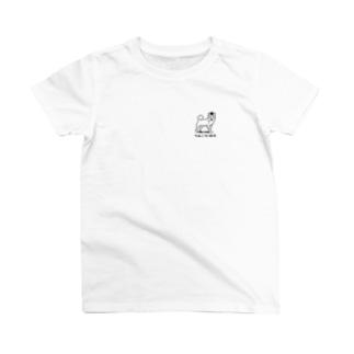 柴犬りんご工場長(ロゴ 黒) T-shirts