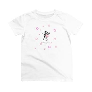 シルエット×バレエ【眠れる森の美女】pink T-shirts