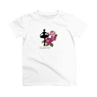 バレエシルエット (オーロラ) T-shirts