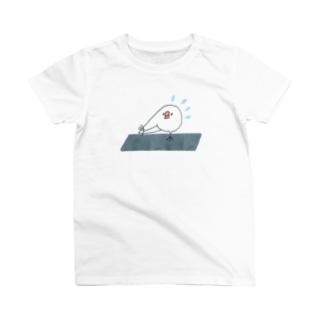 ストレッチをがんばる文鳥ちゃん T-shirts
