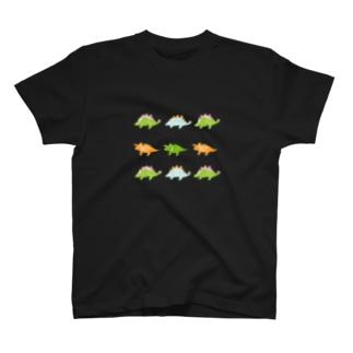 恐竜はんこ Tシャツ