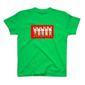 五つ子うさぎさん Tシャツ