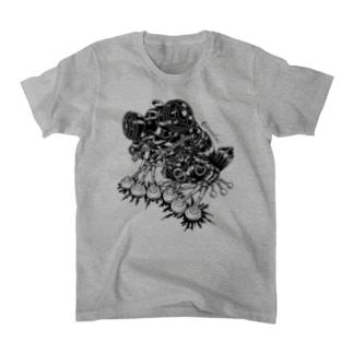 "Animalia Kinky "" Black Frog "" Tシャツ"