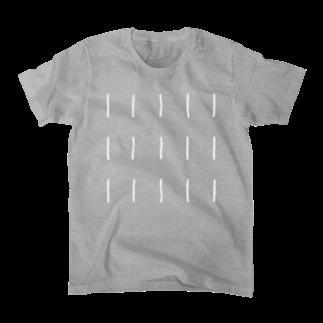 Comic Line - 6 (White) Tシャツ