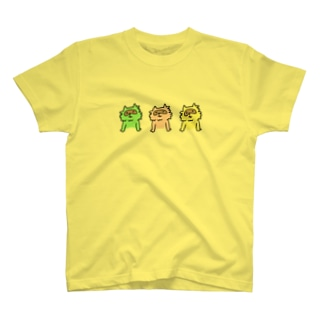 三色たぬき Tシャツ