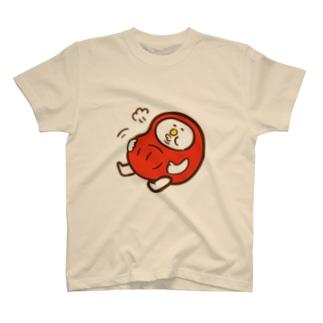 だるまの盆ちゃん、食べ過ぎたの巻 Tシャツ
