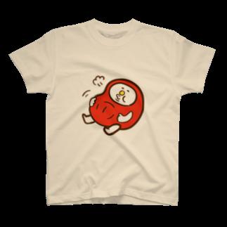 MIMIのだるまの盆ちゃん、食べ過ぎたの巻Tシャツ