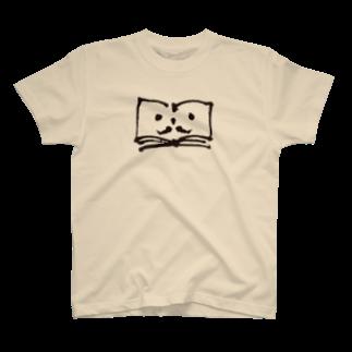 ブクログのお店のヒゲのブックンTシャツ