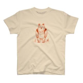 りゅっくま-赤 Tシャツ