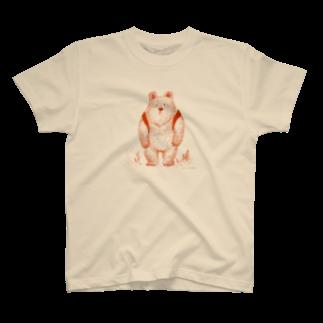 木村いこのりゅっくま-赤 Tシャツ