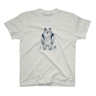 りゅっくま-ネイビー Tシャツ