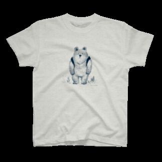 木村いこのりゅっくま-ネイビー Tシャツ