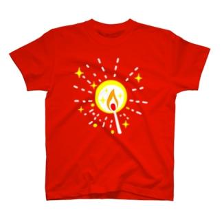 マッチの灯(星) Tシャツ