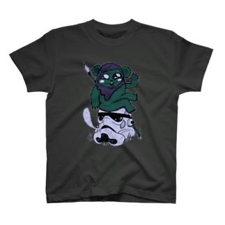 Little Soldier got a Big Head T-shirts