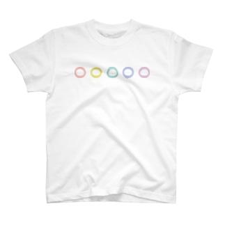 (・-・)×5 Tシャツ