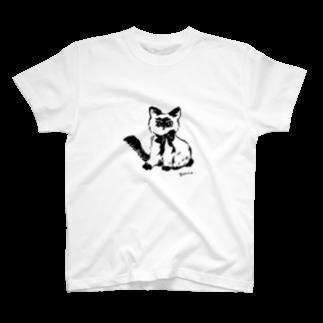 ponieの不機嫌なネコ Tシャツ