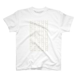マステ風スノーフレークライン Tシャツ