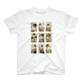 安永峰夫の歌麿D Tシャツ