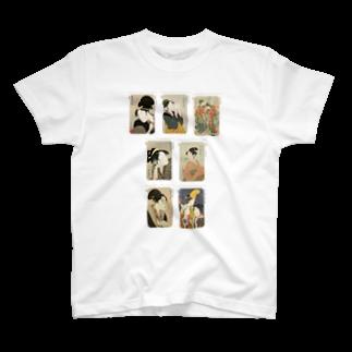 安永峰夫の歌麿E Tシャツ