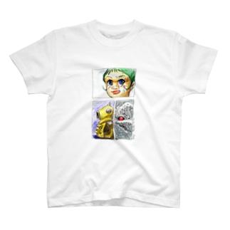 ヤノベケンジ《サン・チャイルド》(コマ割りカラー) Tシャツ